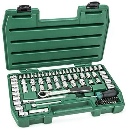 SATA 80-Piece 1/4-Inch, 3/8-Inch Pass-thru Vortex Socket Set - ST09135U-02