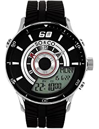 Mens 5035.1 Monticello Analog-Digital Display Black Rubber Strap Watch