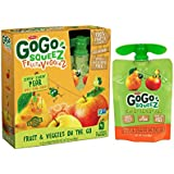 GoGo SqueeZ Fruit & VeggieZ on the Go, Apple Pear Carrot, 3.2 Ounce Portable BPA-Free Pouches, Gluten-Free, 48 Total Pouches (12 Boxes with 4 Pouches Each)