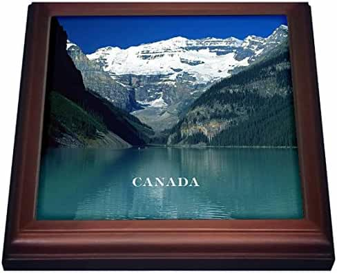 3dRose Florene Worlds Exotic Spots - Canadas Beautiful Lake Louise - 8x8 Trivet with 6x6 ceramic tile (trv_80579_1)
