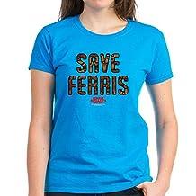 CafePress - Ferris Bueller - Save Ferris - Womens Cotton T-Shirt