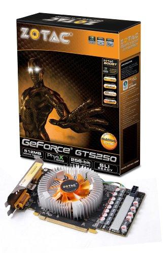 ZOTAC nVidia GeForce GTS 250 512 MB DDR3 DVI / VGA / HDMI Tarjeta de video PCI-Express ZT-20105-10P