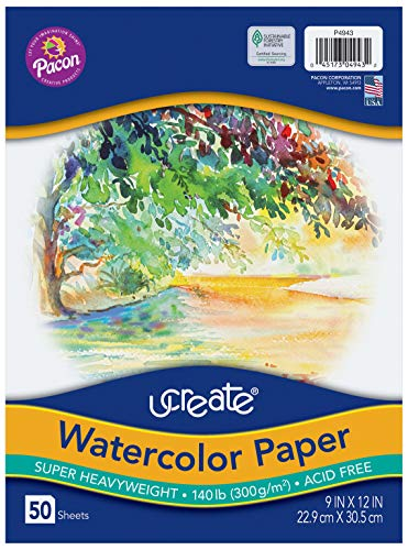 UCreate Watercolor Paper White