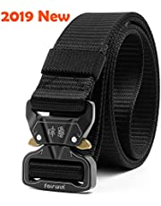 Fairwin Tactical Belt, Rigger's Military Webbing Nylon Web Belt with Heavy-Duty Quick-Release Metal Buckle