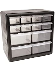 Homak Manufacturing HA01012001 12 Drawer Parts Organizer, Black Matte