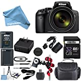 Nikon Coolpix P900 Wi-Fi 83x Zoom Digital Camera + Extra Replacement Battery + Original Accessories + 32GB Memory Card + Spider Flexible Tripod + Deluxe Carrying Case + 12pc Bundle