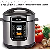 Mockins 6.3 Quart 8 in 1 Electric Pressure Cooker with 16 Functions Including Rice Cooker | Slow Cooker | Steamer | Yogurt Maker | and More …