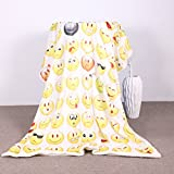 Sleepwish Sherpa Blanket Throw Blankets Emoji Bed Blankets for Young People Super Soft Cozy Crystal Velvet Plush Throw Blanket (50x60 Inches)