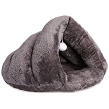 Hollypet 19.7x15.7x11.4 inch Self-warming Comfortable Triangle Cat Bed Cave House