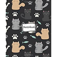 "Sketchbook : cat pattern: 100+ Pages of 8"" x 10"" Blank Paper for Drawing, Doodling or Sketching (Sketchbooks)"