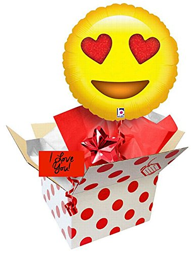 IdealWigsNet Ballon in Einer Box - Emoji Emoji - Love Holographic Balloon - 18   2f14a4