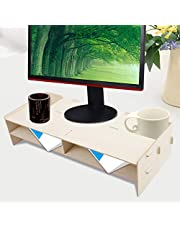 Eco-Friendly Desk Shelf, Strong Bearing Capacity Monitor Stand, for Storing Documents Magazines