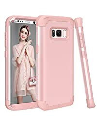 Shockproof Case for Samsung Galaxy S8 Plus,Gostyle Luxury Detachable 3 in 1 Hybrid Hard PC + Soft Silicone Drop Protection Armor Case Anti-scratch Bumper Full Protection Cover,Rose Gold