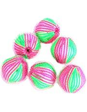 Dehairing and Decontamination Magic Laundry Ball, 6pcs to Remove Clothing Hair Ball Magic Ball, 3.5cm Clothing Hair Ball Washing and Protecting Ball, Reusable Pet Hair Dryer Ball (Random Color)