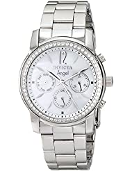 Invicta Womens 11768 Angel Crystal Accented Mother-Of-Pearl Dial Stainless Steel Watch