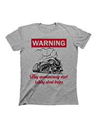 WARNING May Spontaneously Start Talking About TRAINS T-Shirt Boys Girls