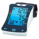 Physio Logic LuminA Professional Quality Upper Arm Automatic Blood Pressure Monitor with Universal Size Arm Cuff and Large LCD Backlit Screen with Carrying Case Included