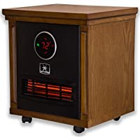Heat Storm HS-1500-SISM  Indoor Portable Infrared Space Heater - 1500 Watt - Stylish - Built in Thermostat & Overheat Sensor - Remote Control - Perfect For Any Room