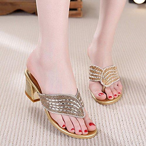 KPHY-Dünn 6 cm cm cm High Heels Flip - Flops Schwere Schuhe Sandalen Oberbekleidung Hausschuhe Wasser Läuft Sommer Damenschuhe b17df6