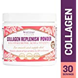 Reserveage - Collagen Replenish Powder, Hydrating Support for Youthful, Smooth, Elastic, and Firm Skin to Help Reduce Wrinkles with Hyaluronic Acid and Vitamin C, Gluten Free, 30 Servings (2.75 Oz)