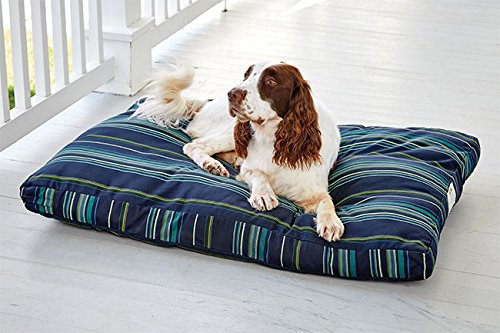 Orvis Sunbrella Indoor Outdoor Comfortfill Platform Dog Bed Small Dogs Up To 18 Kg, bluee Lagoon
