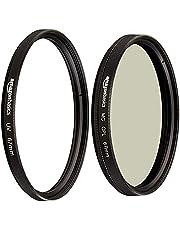 AmazonBasics Circular Polarizer Camera Photography Lens - 67 mm & UV Protection Camera Lens Filter - 67mm