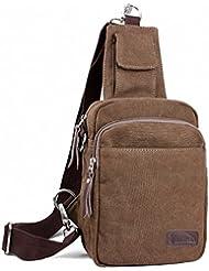 Laptop Backpack, Leather Sling Bag, Chest Pack, Cavans Crossbody Bag Unisex