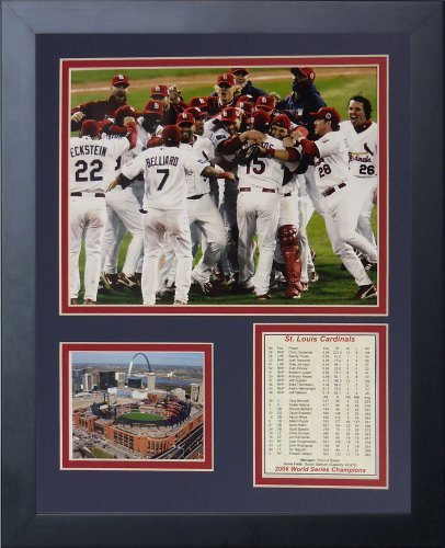 Legenden Sterben Nie 2006 St. Louis Cardinals Field Celebration Gerahmtes Foto Collage, 11 x 35,6 cm von Legends Never Die