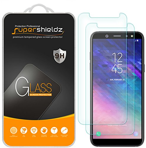 [2-Pack] Supershieldz for Samsung Galaxy A6 (2018) Tempered Glass Screen Protector, Anti-Scratch, Bubble Free, Lifetime Replacement