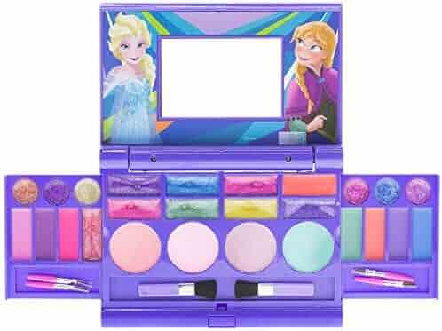 Townley Girl Disney Frozen Elsa and Anna Beauty Kit, Kids Washable Lip Gloss Compact Set (Frozen Compact)