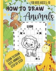 How to Draw Animals, Learn to Draw Cute Animals Step by Step: Activity Book for Kids, Girls and Boys, Ages 5-10, Extra Large Size : 8.5x11, Premium Cute Animals Cover