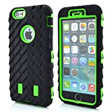 iPhone 6S Case,iPhone 6 Case,Lantier Tire Design Cool Series 3 in 1 Heavy-Duty Dual Layer Soft Touch Protective Cover with Hard PC Inner Case for Apple iPhone 6/6s Green