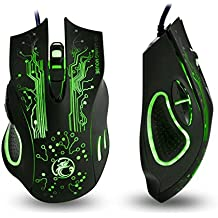 Apedra Wired Optical Gaming Mouse, Ghost Knight X9, LED Backlit, 4 Adjustable DPI Mice 6 Programmable Buttons Gaming Mice