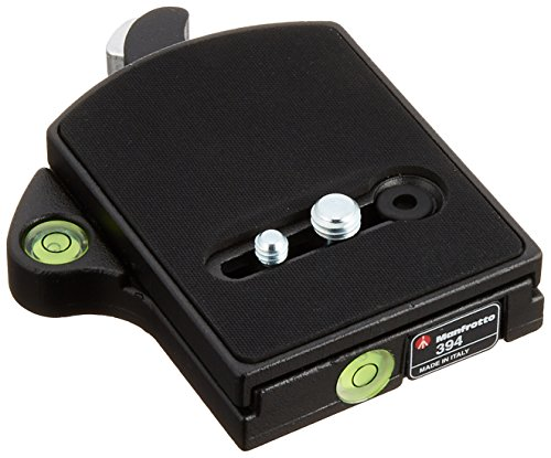 Manfrotto 394 RC4 Low Profile Rectangular Rapid Connect Adapter with 410PL Plate -Black