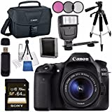 Canon EOS 80D DSLR Camera with 18-55mm Lens + Canon 100ES EOS Shoulder Bag Bundle