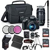 Canon EOS Rebel T6 DSLR Camera w/18-55mm & EF 75-300mm Lenses & Zoom TTL Flash Gun & 48GB Supreme Bundle (CERTIFIED REFURBISHED)