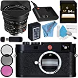 Leica M (Typ 262) Digital Rangefinder Camera 10947 Super-Elmar-M 18mm f/3.8 ASPH. Lens + 77mm 3 Piece Filter Kit + 64GB SDXC Card + Card Reader + Deluxe Cleaning Kit + Fibercloth Bundle