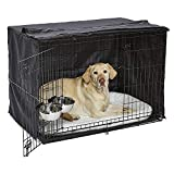 """Midwest Homes for Pets 1542DD-KIT 2 Door iCrate Pet Bed, Cover & 2 Bowls, 42"""" Kit/Large Dog Breed"""
