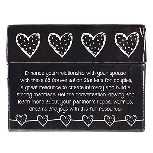88 Great Conversation Starters for Husbands and Wives – Romantic Card Game for Married Couples – Christian Games, Communication & Marriage Help, Fun Anniversary or Wedding Gifts for The Couple
