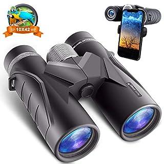 Birds Watching Binoculars for Adults: 10 x 42 HD Glasses Binoculars with 18mm View Eyepiece & Easily Ajustable Focus Wheel   Waterproof Compact Binocular for Hunting Camping Travle