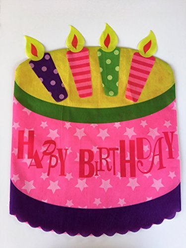 Happy Birthday Chair Cover - Birthday Cake - 19.25 inches x 25.50 inches (Cover Birthday)