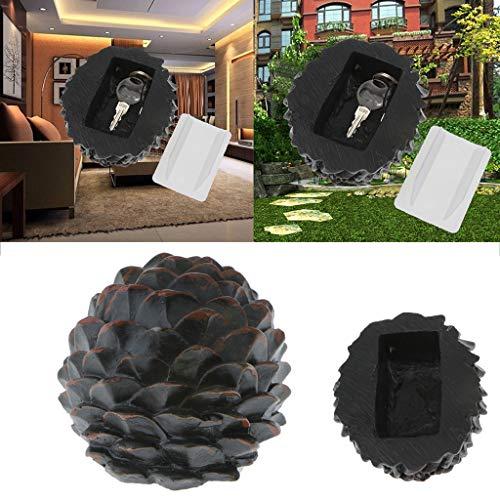 (Euone  Key Storage, Novelty Key Rock Fake Rock Artificial Stone Hide A Spare Key Hiding Pine Cone Key Box Key Cash Hide Box)