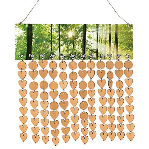 Magnoloran 100 Pieces Unfinished Wood Discs Wooden Circles Heart Tags Slices Discs with 2 Holes and 100 Pieces Ring Connectors Great for Wedding Ornaments, Christmas Party Embellishment, Valentine, Ch