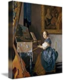 Imagekind Wall Art Print Entitled A Young Lady Seated at A Virginal by Jan Vermeer by The Fine Art Masters | 8 x 9