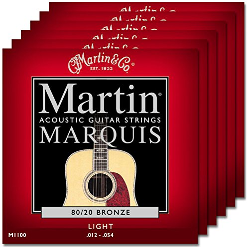 Martin Acoustic Marquis (6 Sets of Martin M1100 Marquis Light 80/20 Bronze Wound Medium Acoustic Strings)