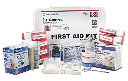 US-Works Restaurant First Aid Kit, 460 Pieces, Serves up to 75 People (67103) by Saunders