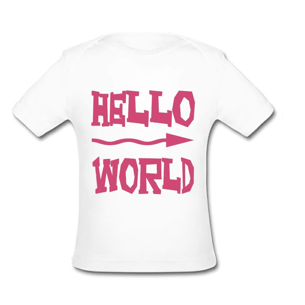 BrowneOLp Hello World Baby Organic Short Sleeve T-Shirt White
