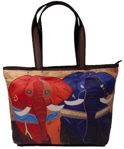 Elephants Shoulder Bag, Vegan Tote Bag - Animal Prints - ...