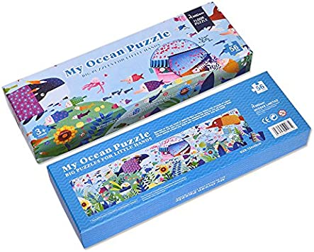 MiDeer 56 Pcs Big My Ocean Puzzle Aesthetic Puzzle Games for Kids Birthday Gift - Edu Toys