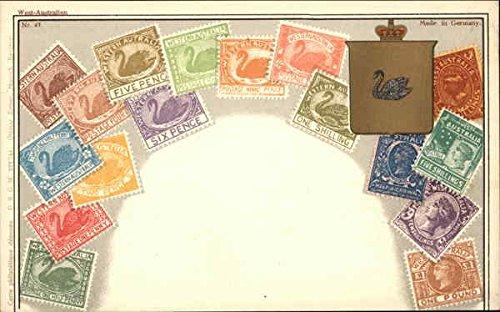 Stamps of Western Australia Stamp Postcards Australia Original Vintage Postcard